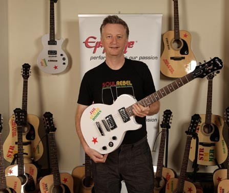 billy with epiphone guitars