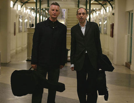 Billy and Mick Jones in Wormwood Scrubs